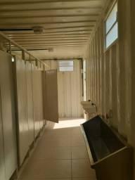 Contêiner Habitário Banheiro/Vestiário Locação dry 6 metros