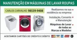 Conserto em maquinas de lavar, todas as marcas, inclusive lava e seca.