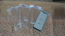 3 Capas de celular transparente e 1 película 3D Zenfone Max Plus M2 (NOVAS)