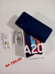 Samsung A20 - Novíssimo com nota Fiscal