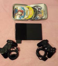Playstation 2 Slim + 2 Controles + Memoria