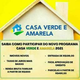 Título do anúncio: W_Casas & Apartamentos  CADASTRE-SE -->CASA VERDE E AMARELA