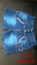 Shorts jeans semi novos
