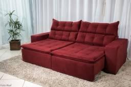 Sofá retrátil e reclinável  2.30m carioca