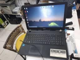 Notebook acer aspire ES 15  4G de RAM e 500G de memória