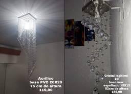 Lustre de Cristal Acrilico