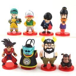Boneco Goku Dragon Ball Rei Cutelo Kuririn Bubble Sr Kaio Bulma Gohan miniatura