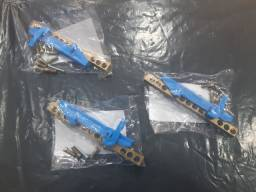 Título do anúncio: Barramento neutro 12 furos com suporte ( azul )
