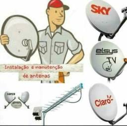 Instalador profissional de antenas sky _oi _claro_