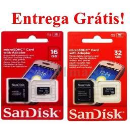 Cartão de Memoria Micro SD Sandisk 16GB 32GB