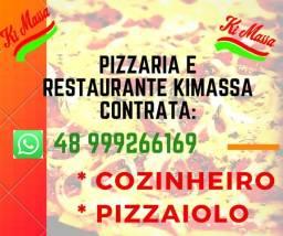 Pizzaria e Restaurante Kimassa Praia do Sonho contrata