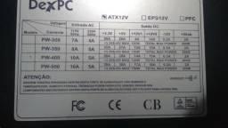 Fonte Atx12V potência max 500w, silenciosa