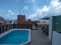 Flat a 60 metros da Beira mar da praia de cabo Branco