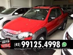 Fiat Strada adventure 1.8 cd vermelha - 2014