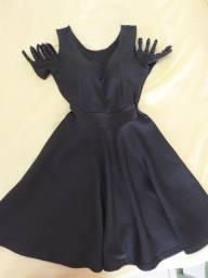 Vende-se vestido de festa preto