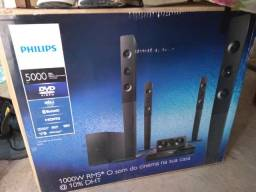 Home Theater Dvd Player Philips 1000W 5.1 Canais Dolby Digital Hdmi USB Karaokê