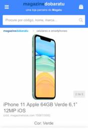 IPhone 11 64 GB (Loja parceira Magalu)