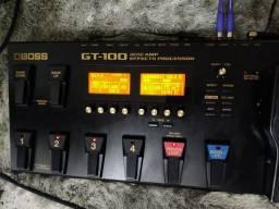 Pedaleira Boss GT 100 Guitarra Multiefeitos Fonte e Capa