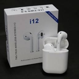 Fone De Ouvido Bluetooth Sem Fio I12 Tws 5.0 Par Airpodstouch (entrega grátis)
