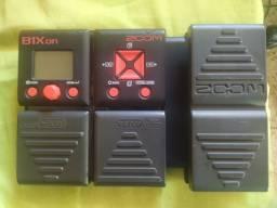 Pedaleira de Contrabaixo Zoom B1Xon + Fonte
