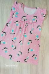 Vestido rosa verão bebê - Tem M