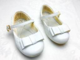 Sapatilha Infantil Klin Princesa Branco nº 22 em ótimo estado