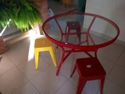 Mesa de vidro gourmet