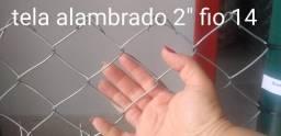 """Tela alambrado 2"""" fio 14 (2,1mm) galvanizado - Valor por m²"""