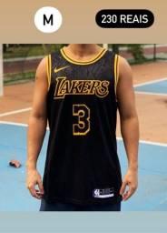Título do anúncio: Regata Nike Nba 2021 Promoção Por Tempo Limitado - Lakers Preta