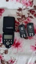Flash Youngnuo YN565EXII e Rádio Flash Youngnuo RF605N (Vendo junto ou separados)
