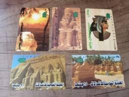 Título do anúncio: 5 Cartões Telefônicos do Egito