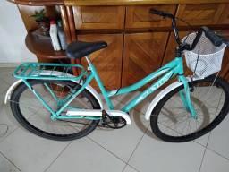Bicicleta com cesta e garupa