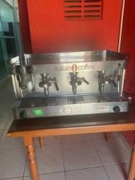 Máquina de café profissional c/ 3 bicos Italian Coffee