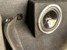 Sub Sony 12 subwoofer - caixa selada dutada trio automotivo