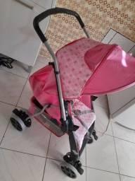 Título do anúncio: Carrinho de bebê...nunca foi usado na rua