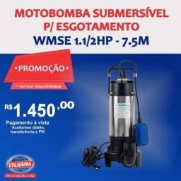 Motobomba Submersível para Esgotamento 1.1/2HP ? Entrega grátis