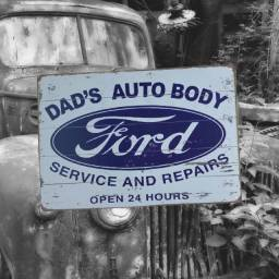 Placa de Metal Ford
