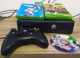 Título do anúncio: Xbox 360 - 3 jogos originais + controle