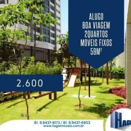 Título do anúncio: Apartamento para aluguel possui 59 metros quadrados com 2 quartos em Boa Viagem - Recife -