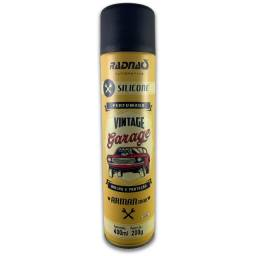Título do anúncio: Silicone Spray Radnaq Vintage Garage Perfumado Aerosol 400ml -Carlinhos Peças Automotivas
