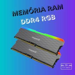 Título do anúncio: Memória ram ddr4 asgard RGB 2x8 3200mhz