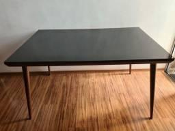 Título do anúncio: Mesa de Madeira e vidro preto laqueado