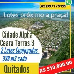 Título do anúncio: Cidade alpha Ceará, terras ALPHAVILLE CEARÁ 3, LOTES CONJUGADOS
