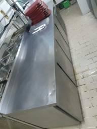 Freezer horizontal em inox