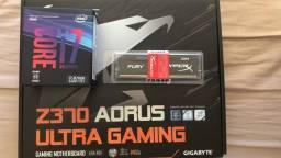 Kit I7 8700k Placa Mãe Z370 Aorus Ultra Gaming 8gb Ddr4