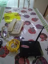 Roteador e telefone