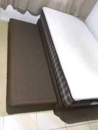 Cama box solteiro aloe vera luxo, com auxiliar ( Bicama )