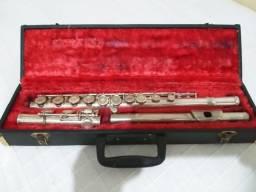 Flauta Transversal com estante para partitura