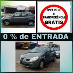 Sandero 1.6 - S/ entrada, IPVA e Transferência GRÁTIS - 2009