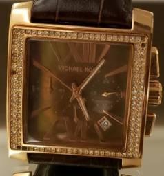 7d03b46e5a4 Relógio Michael Kors 5675 Gia Couro Crystal Original
